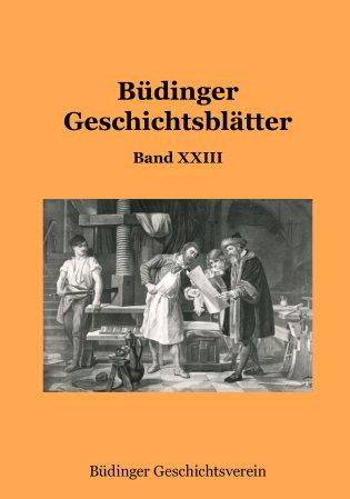 Büdinger Geschichtsblätter Band 23